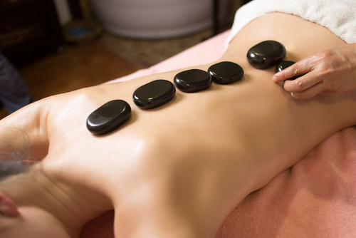 Hot stone massage, diagnostics, therapy